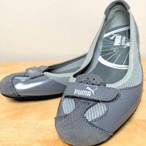 PUMA Eco Ortholite Grey Suede & Patent Flat